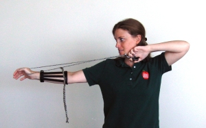 Rope Bow in Use